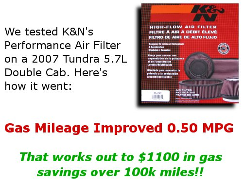 K and N Air Filter Review Save $1100 On Gas! Tundra Headquarters Blog