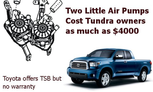 Tundra and Sequoia $4000 Air Injection System Problem Tundra