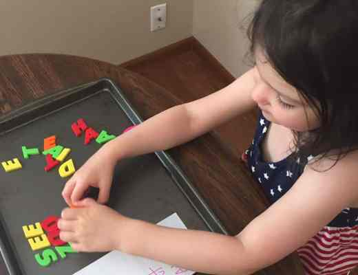 Check out this simple + fun way for kids to practice spelling and reading their sight words.