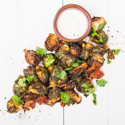 Radiant Bacon Gremolata Sourn Restaurant Bar Deep Fried Brussel Sprouts Balsamic Deep Fried Brussel Sprouts Fried Brussels Sprouts Bacon Gremolata Parmesan Garlic Ranch Dressing Fried Brussels Sprouts