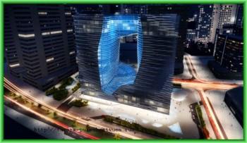 Уникальный отель строится в Арабских Эмиратах - спроектировал дырявый куб здания известный иранский архитектор
