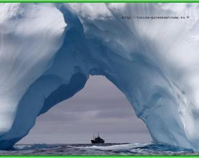 В Южном океане потрясающие айсберги