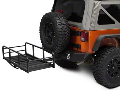 Redrock 4x4 Jeep Wrangler Hitch Mounted Cargo Rack 12 In