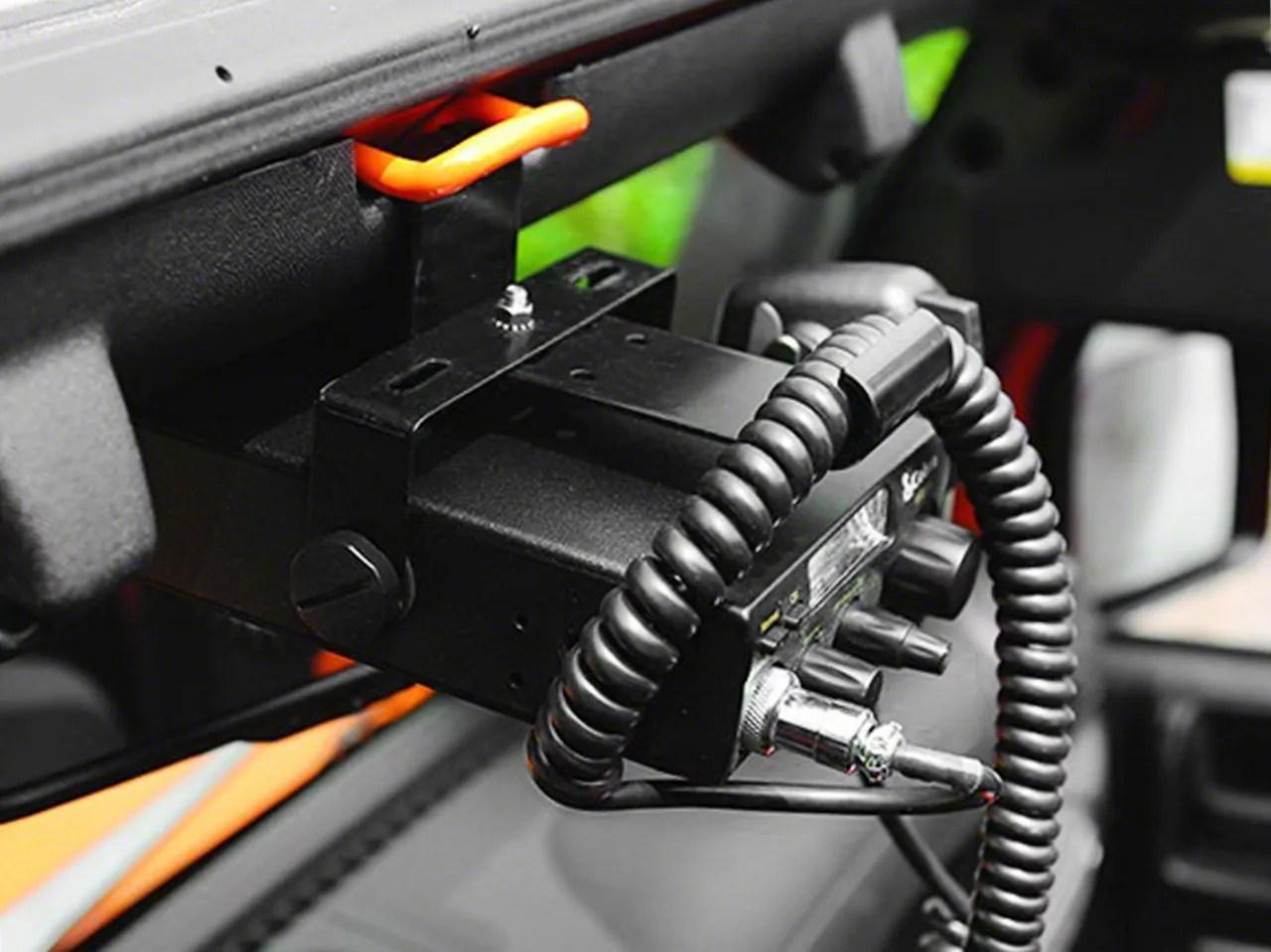 Rugged Ridge Jeep Wrangler Cb Radio Mount Bracket 1150395