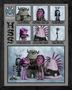 Pixar Monsters University Eta Hiss Hiss Sorority