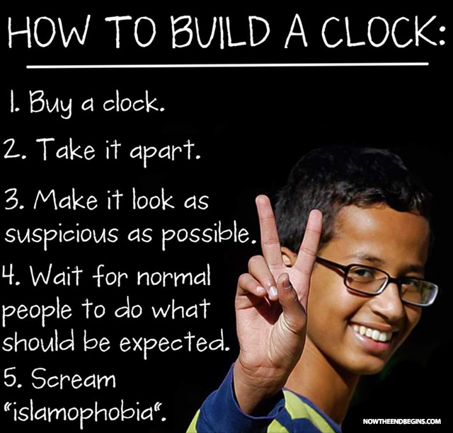 ahmed mohamed never built a clock and anyone who believes