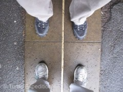 If you arrive at the Greenwich Meridian timeline at the right time, theoretically, you could stand with one foot in Saturday and the other in Sunday.