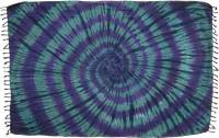 Green and Purple Spiral Tie-Dye Sarong | Turtle Island Imports