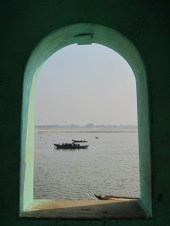 Looking through to the Ganges River, Varanasi