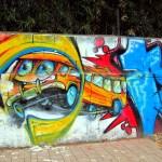 School Bus Graffiti