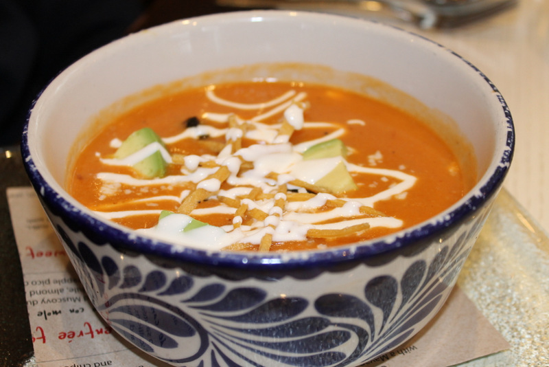 Tortilla soup at the Mexican restaurant Oyamel in Washington D.C.