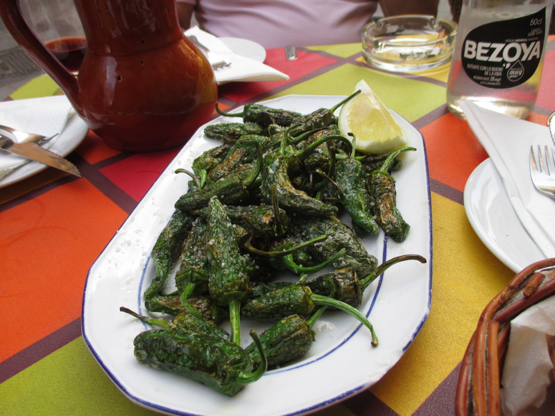 Tapas in Toledo - Pimientos de Padròn (Spicy peppers)