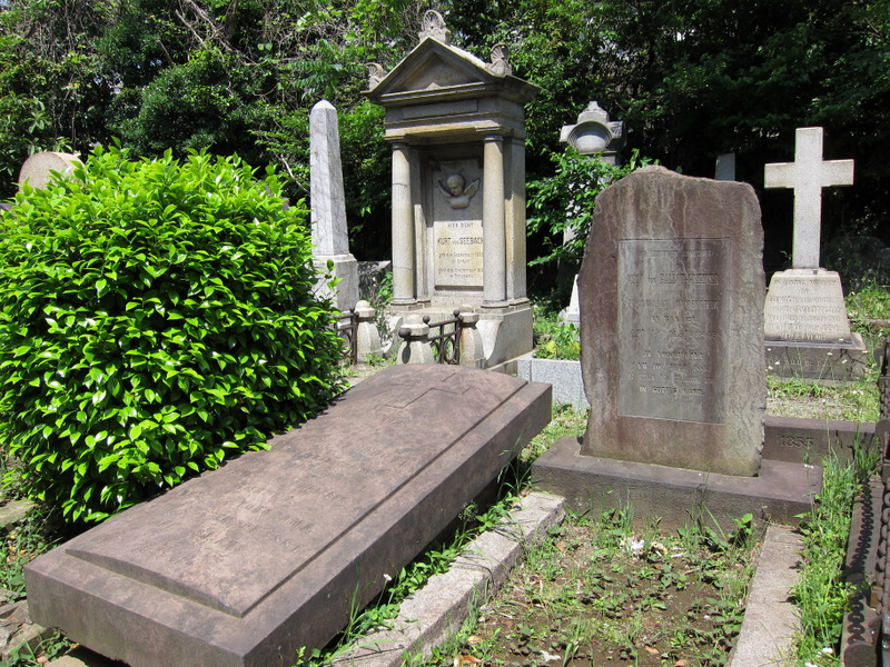 Gravestones in the Foreigners Cemtery