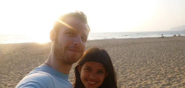 3-Jonathan and Kach in Agonda Beach, Goa, India