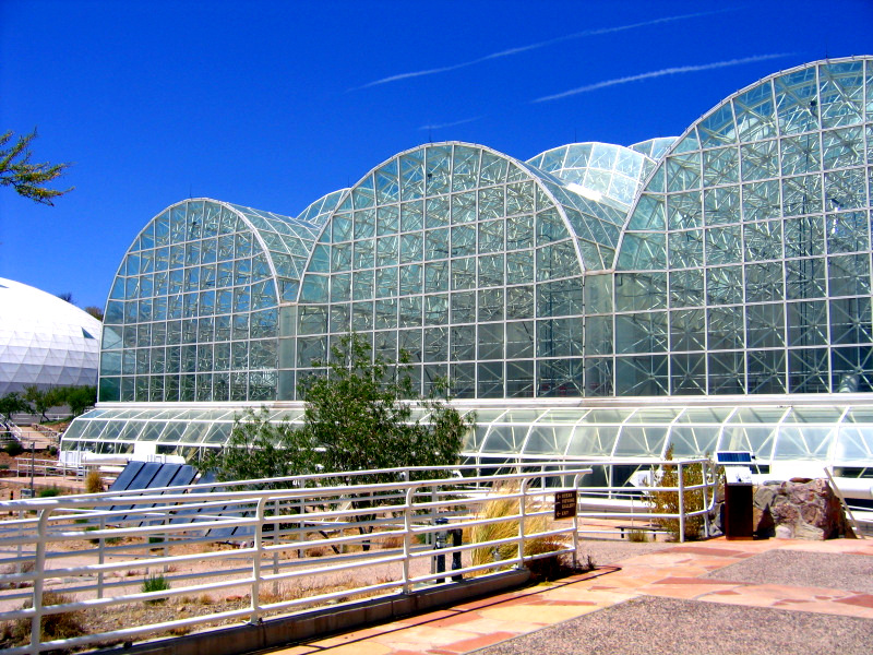 Glass at Biosphere 2