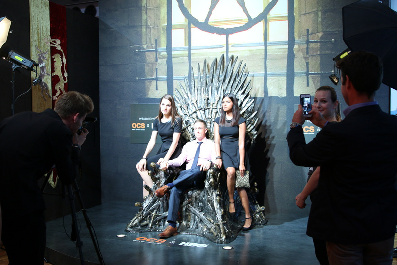 "Sitting on the ""Iron Throne."""