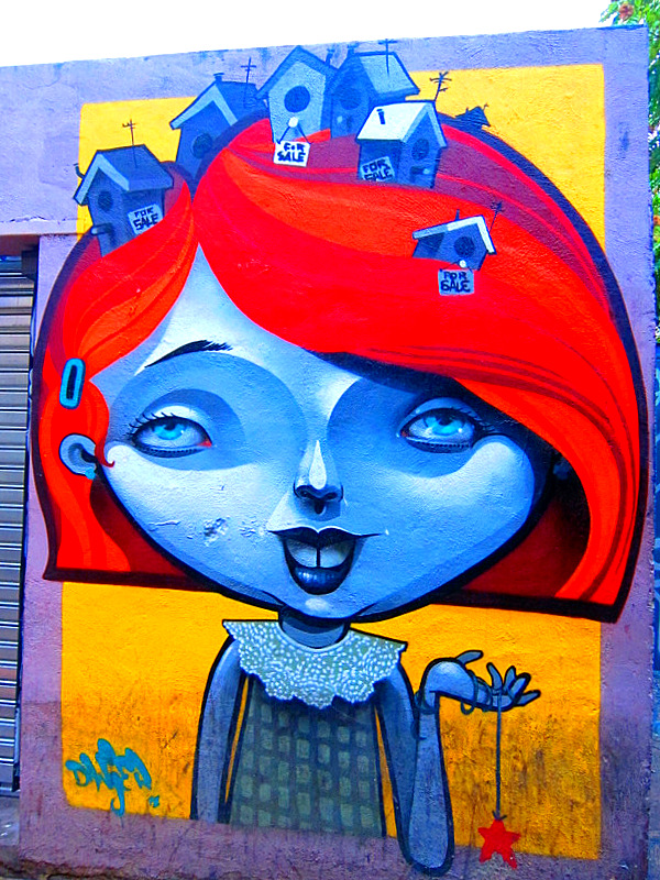 Blue Girl, Red Hair, Zaragoza, Spain