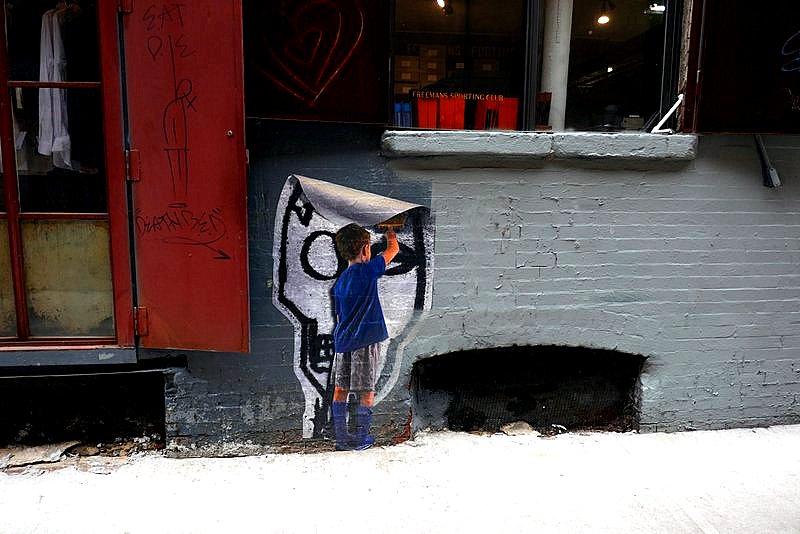 Location: Freeman Alley, Rivington St.