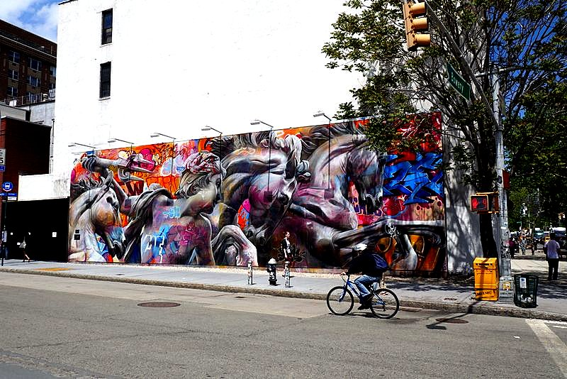 Ever-changing mural at Houston and Bowery