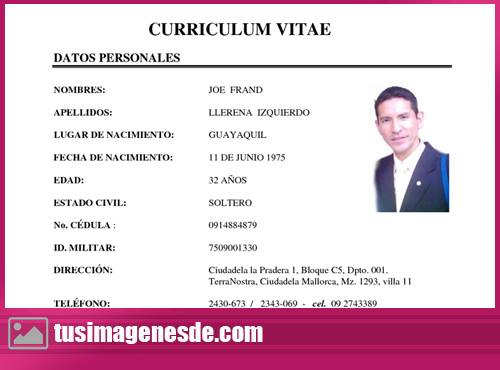 Imágenes de modelo de Curriculum Vitae Imágenes