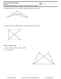 Worksheet: Proving Triangles Congruent - Triangle ...