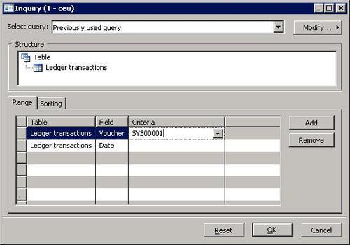Microsoft Dynamics AX 2009  Creating and posting ledger vouchers - creating vouchers