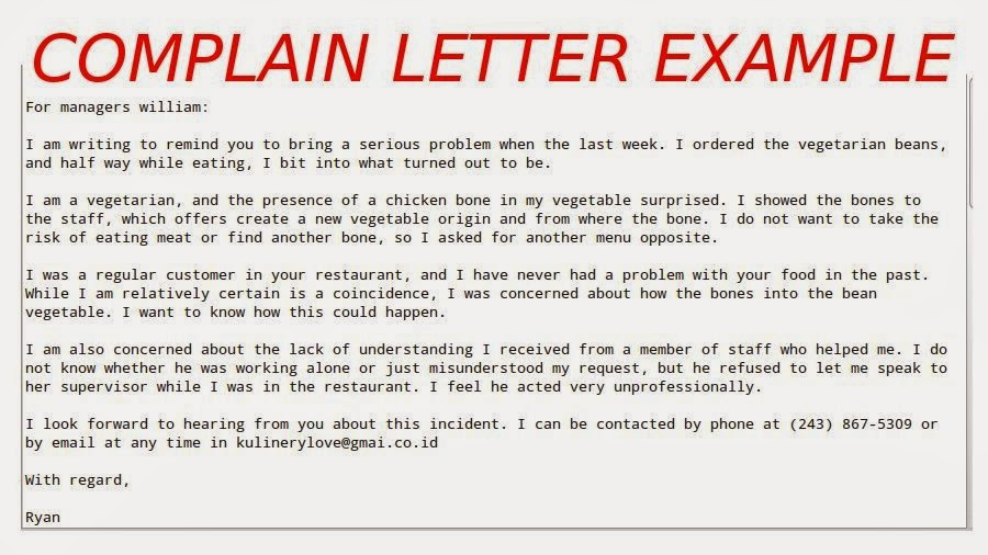 Complaint Letter Dalam Bahasa Inggris Resume Examples And