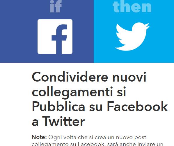 Post Facebook su Twitter