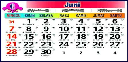 Kalender Juni 2009