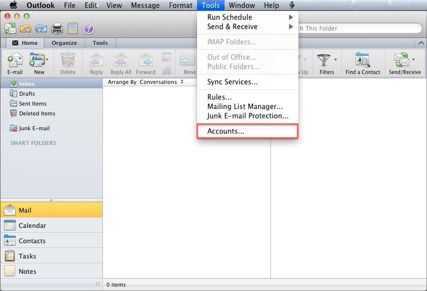Email Application Setup - Outlook 2011 for macOS