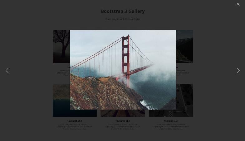 Freebie 4 Bootstrap Gallery Templates - Tutorialzine