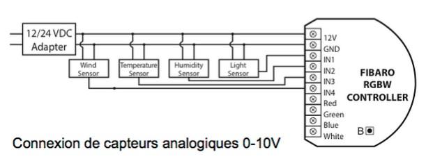 sensor light schema cablage