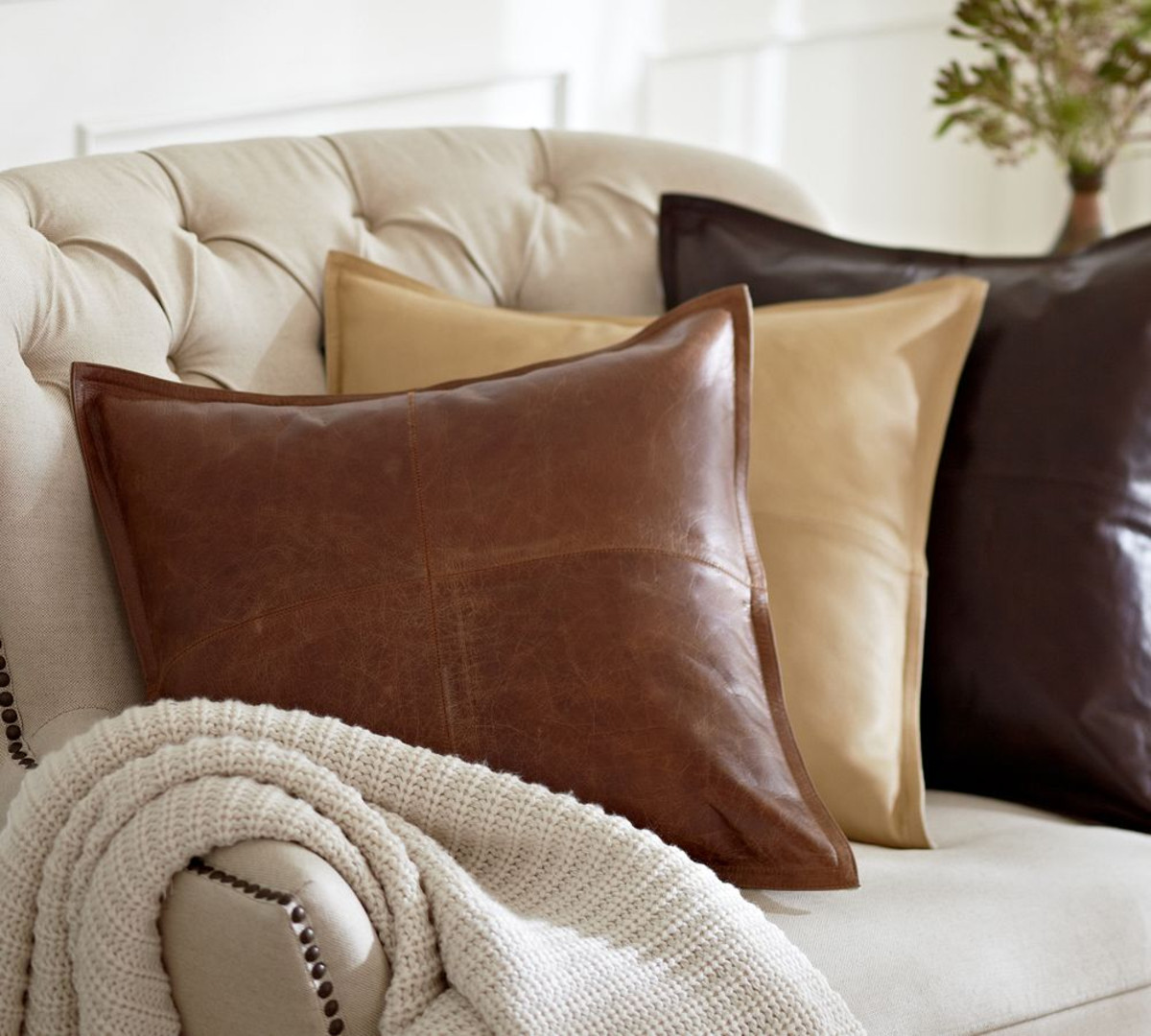 Cushions For Brown Leather Sofas Dark Brown Leather Cushion Tutti Decor Ltd
