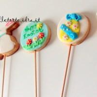 """Biscotti decorati su stecco """"Happy Easter"""""""