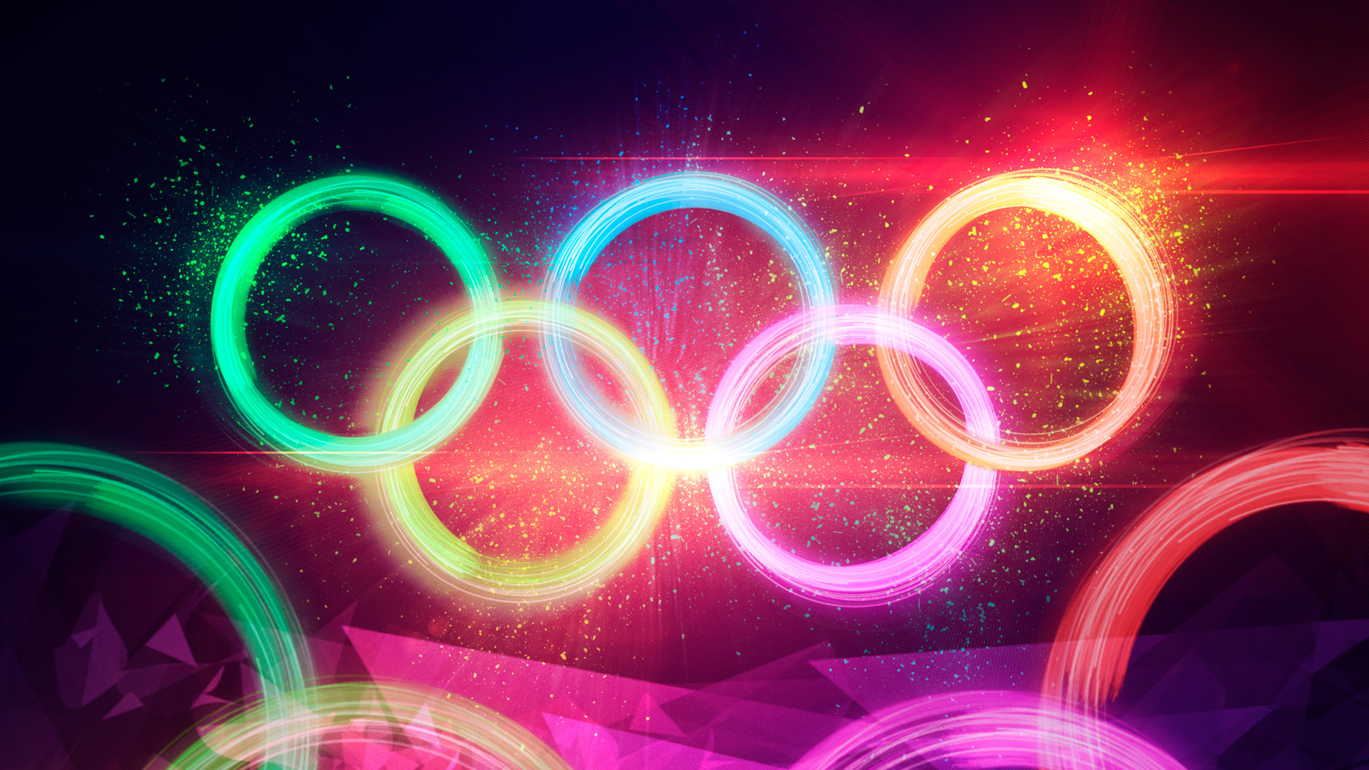 Parallax 3d Effect Wallpaper Pro Dramatic Particle Explosion Olympic Rings Artwork