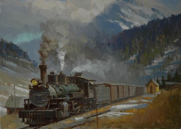 Prints Of Paintings On Canvas Train-paintings