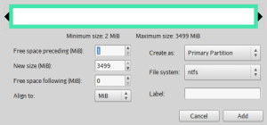Create new Partition_003