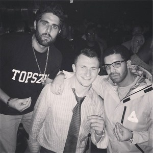 Johnny Manziel partying with International Rap star Drake.
