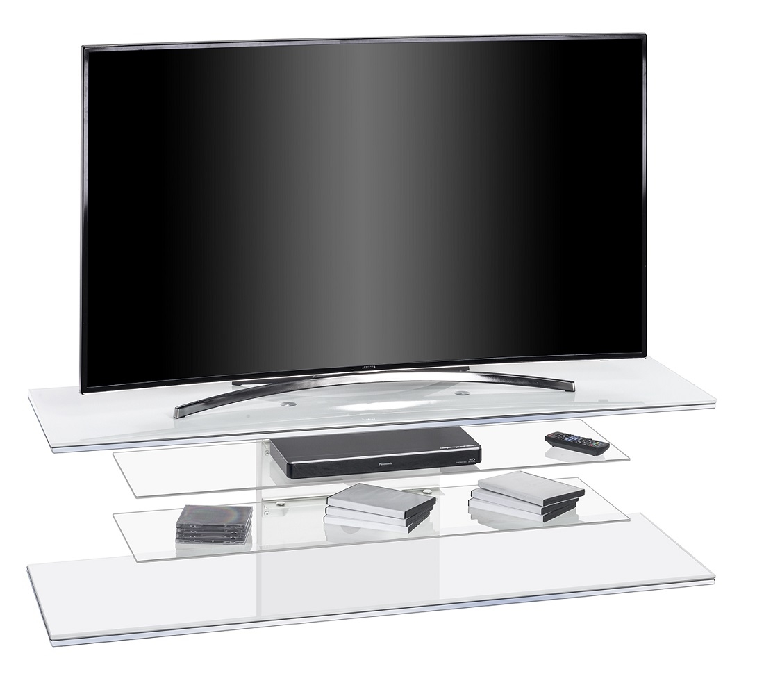 Tv Meubel 140 Tv Meubel Diamond 140 Cm Breed - Wit - Tvdesignmeubel.nl