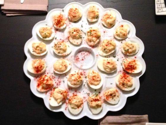 overhead deviled eggs