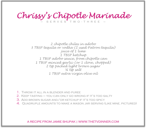 RECIPE chrissy's chipotle marinade