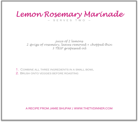 RECIPE lemon rosemary