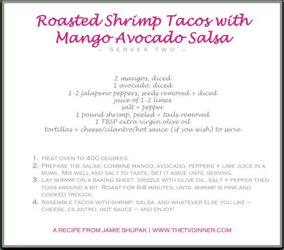 RECIPE roasted shrimp tacos