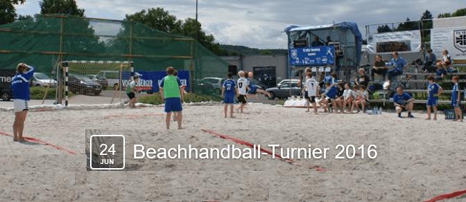 Ab Freitag, 24.06.16, 17 Uhr 15  Beachhandball-Turnier in der 11. Auflage