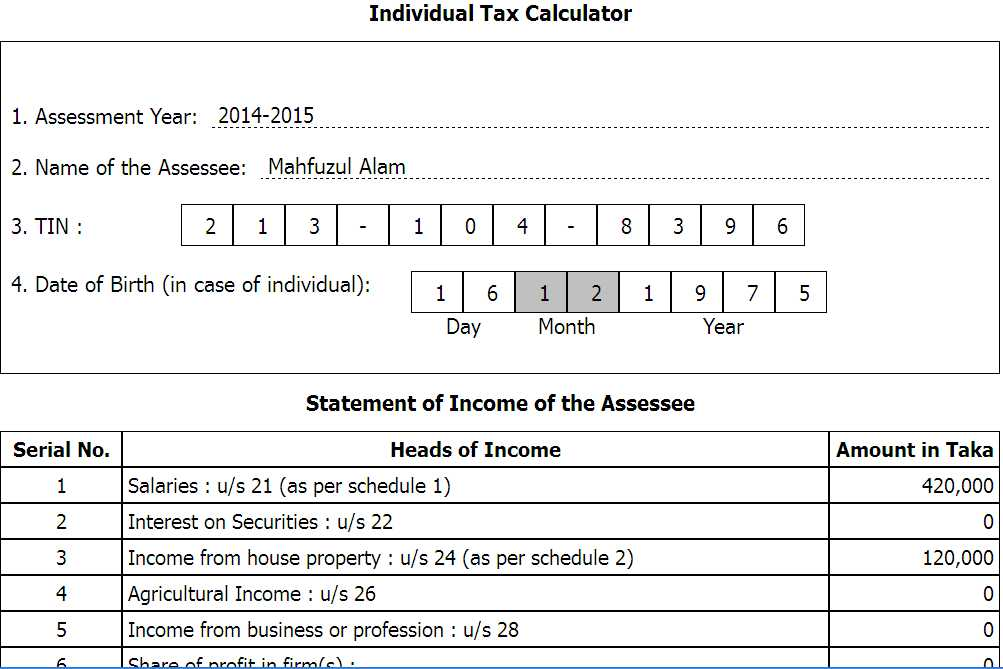 Welcome To TechnoVista Income Tax Calculator  Return Preparation