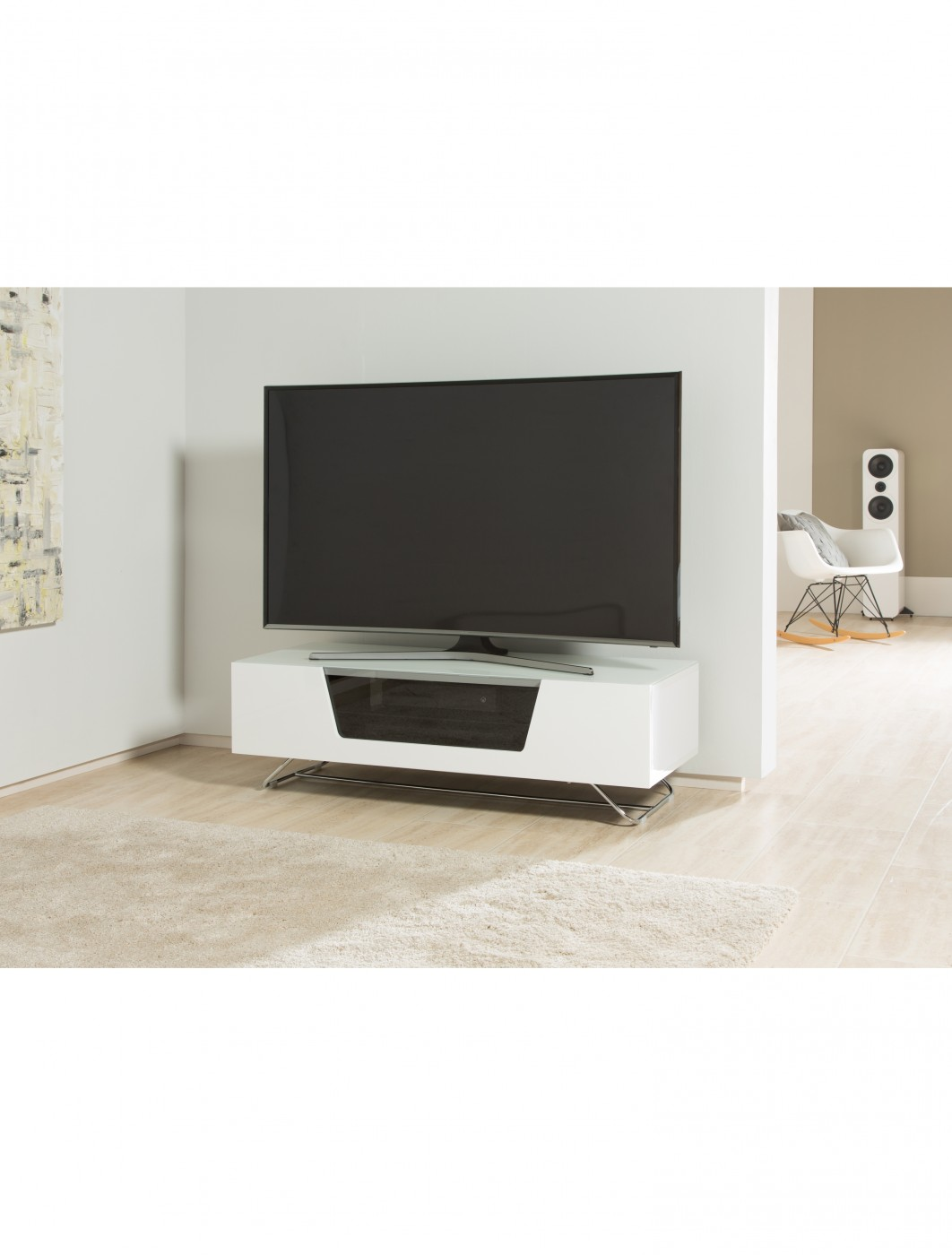 White Tv Stand Alphason Chromium Tv Stand Cro2 1200cb Wht 121 Tv Mounts