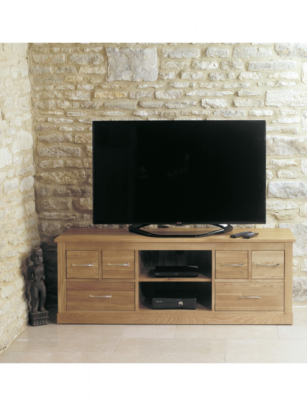 baumhaus mobel oak widescreen tv cabinet cor09b 121 tv