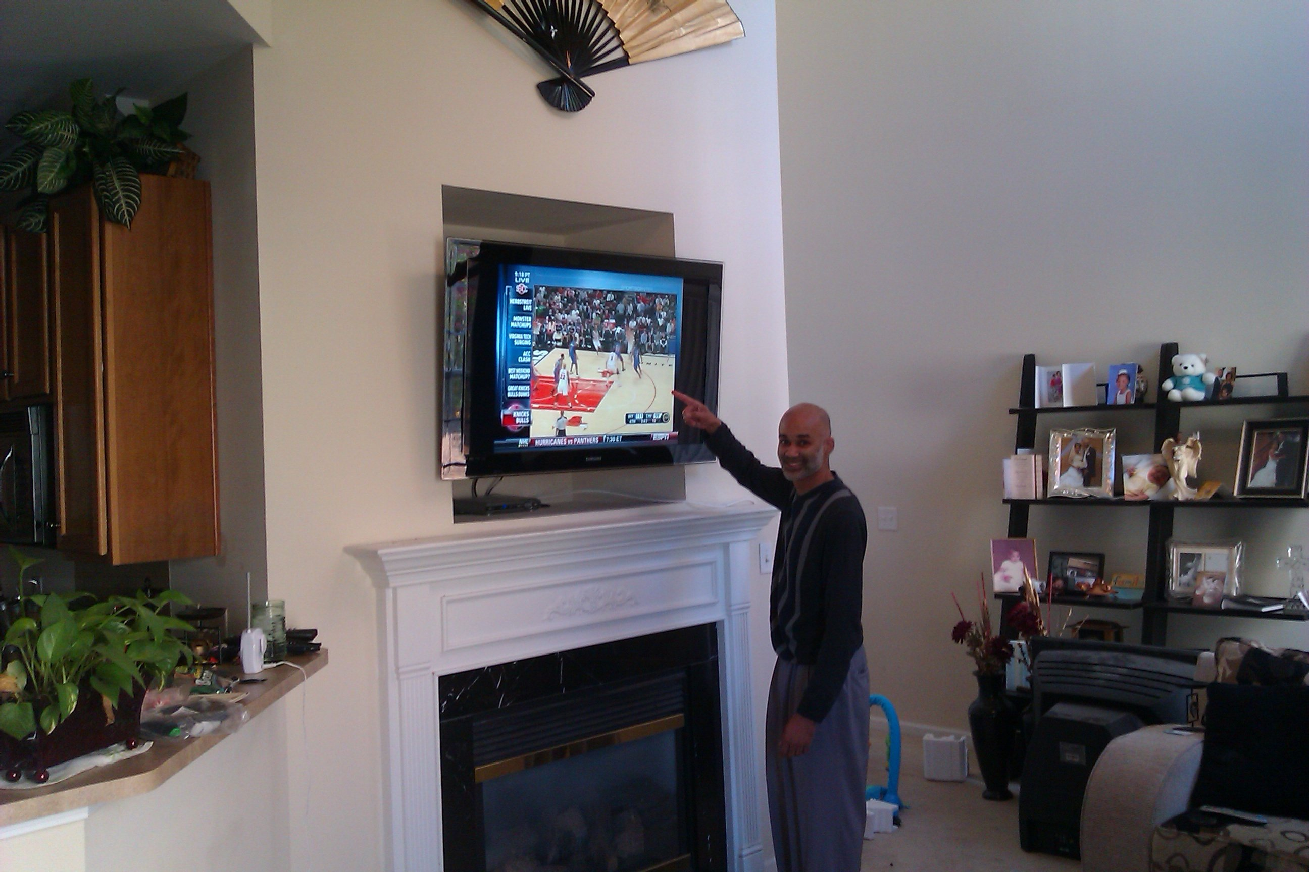 Fireplace Tv Mount Fireplace Tv Mounting And Wiring Service Charlotte Nc