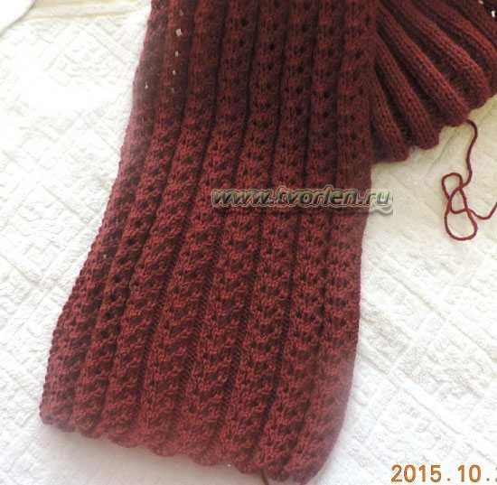вязание снуда спицами (5)