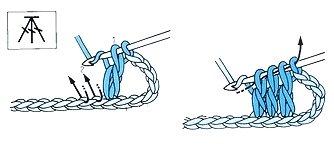 Вязание крючком столбики с одной вершиной как 446